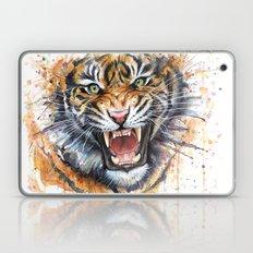 Tiger Watercolor Painting Laptop & iPad Skin