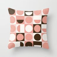 Retro Pink Throw Pillow