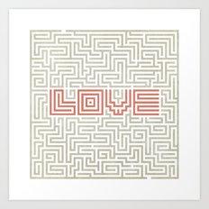Love game Art Print