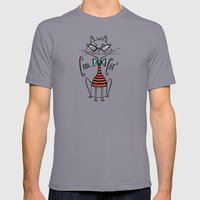 Cool Cat Mens Fitted Tee Slate SMALL