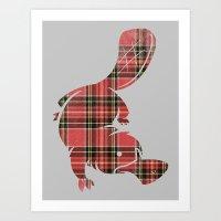 Plaidapus Delux Art Print