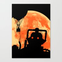 Cyber King Horror Poster Canvas Print