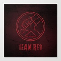 Team Red Canvas Print