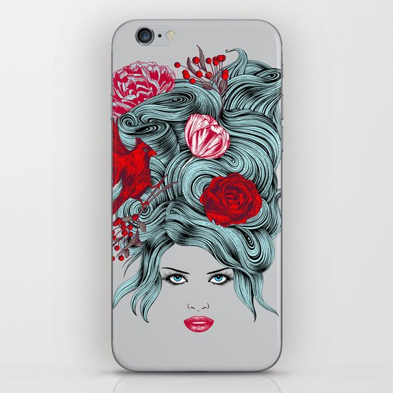 Winter Girl iPhone & iPod Skin