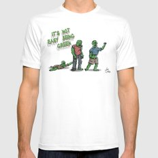 It's Not Easy Being Green White Mens Fitted Tee SMALL