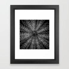 White Swirl Fractal On B… Framed Art Print