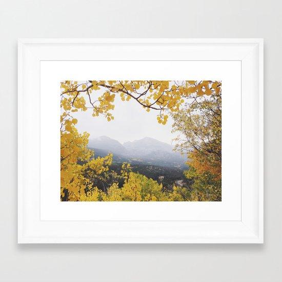 Fall Frame Framed Art Print