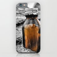 Message in a bottle Swept away by the sea Secrets held within Dreams of you and me iPhone 6 Slim Case