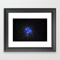 the Pleiades or Seven Sisters in Taurus Framed Art Print