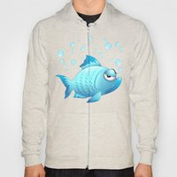 Grumpy Fish Cartoon Hoody