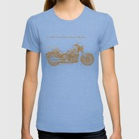 Travel Plan Womens Fitted Tee Tri-Blue SMALL