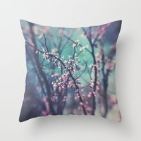 Paint Me Pink &Blue Throw Pillow