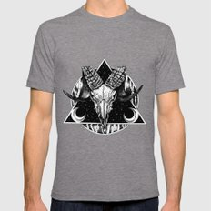Goat Mens Fitted Tee Tri-Grey SMALL