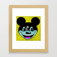 ANOTHER MICKEYES.  (Pink Tongue). Framed Art Print