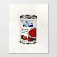 Great Value Tomato Soup Canvas Print