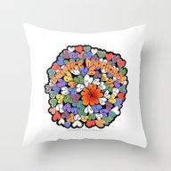 Throw Pillow featuring Zentangle Practice Happi… by Vermont Greetings
