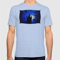 Snowfall At Full Moon Mens Fitted Tee Tri-Blue SMALL