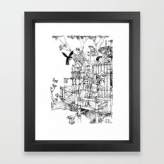 La Cabane Idéale / The Ideal Cabin Framed Art Print