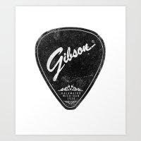 Legendary Guitar Pick Art Print