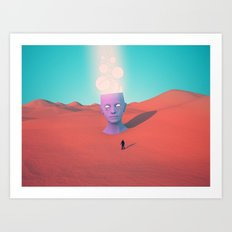 Found and lost Art Print