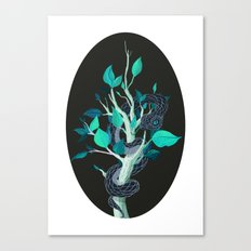 Snake - Blue Canvas Print