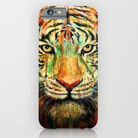 iPhone & iPod Case featuring Tiger by nicebleed