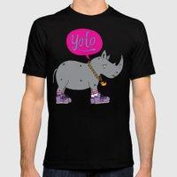 Yolo Rhino Mens Fitted Tee Black SMALL