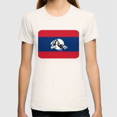 Laos, Roosters Sparring Womens Fitted Tee Natural SMALL