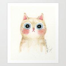 Cognac the Cat Art Print
