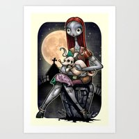 Sally &  Zero Art Print