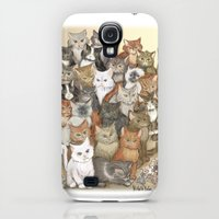 Galaxy S4 Cases featuring 1000 cats by Michelle Behar