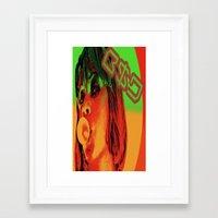 Face of B$D Framed Art Print