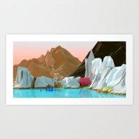 Ice gem Art Print