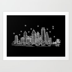Philadelphia, Pennsylvania City Skyline Art Print