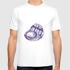 Irn Bru can pen drawing (blue) Mens Fitted Tee SMALL White