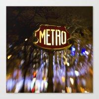 Metro Love Canvas Print