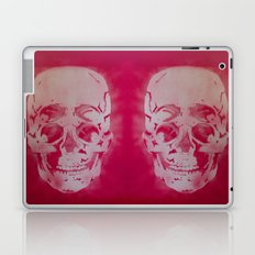 4 Eyes Skull in Red Stencil Art Laptop & iPad Skin