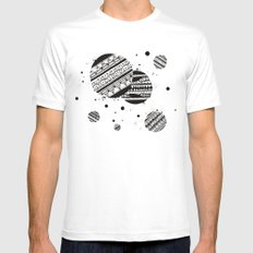 Pattern Doodle One White SMALL Mens Fitted Tee