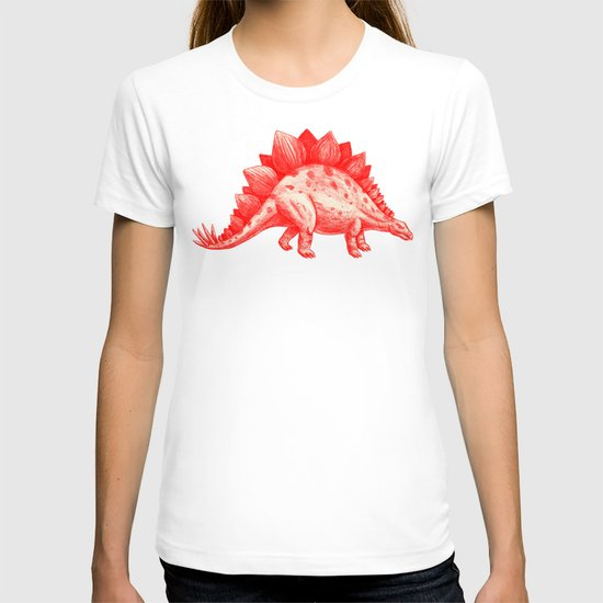 Red Stegosaurus  T-shirt