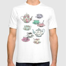 Tea time Mens Fitted Tee SMALL White