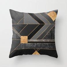 Nordic Black Throw Pillow