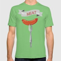 Nice to MEAT you! Mens Fitted Tee Grass SMALL