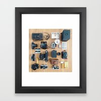 Cameras Organized Neatly Framed Art Print