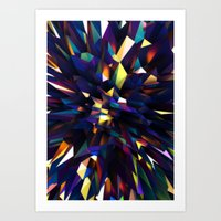 Low Iris Poly Art Print