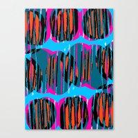 Circles and Stripes Canvas Print