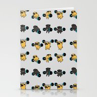 OLYMPIC LIFTING PUGS Stationery Cards