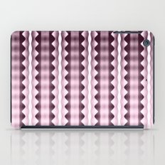 Wavy Verticals Pink iPad Case