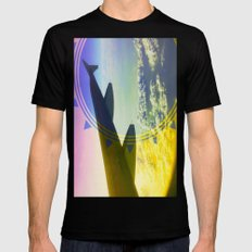 Above It All Black SMALL Mens Fitted Tee