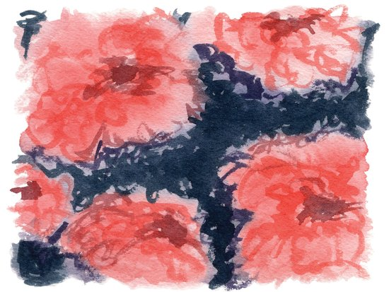 Stark Blumen Art Print