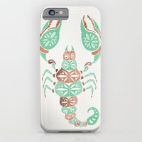 iPhone Cases featuring Scorpion – Mint & Rose Gold by Cat Coquillette